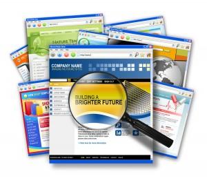 Internet Web Site Search Collage
